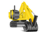 illustration of excavator