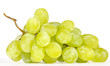 Cluster of White Muscat Grapes Isolated on White Background
