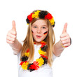 german soccer fan with thumbs up