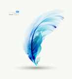 Fototapety One  Abstract  blue writing feather