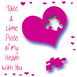 Love pink heart