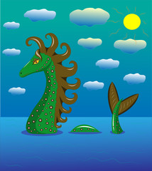 Sea dragon in the sea