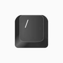 Slash - Przycisk Keyboard