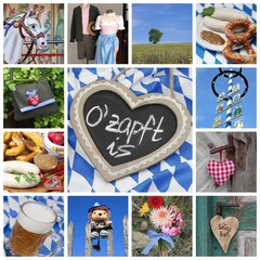 Collage Bayern - Oktoberfest - Wiesn München