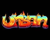 Urban Graffiti Vector Design
