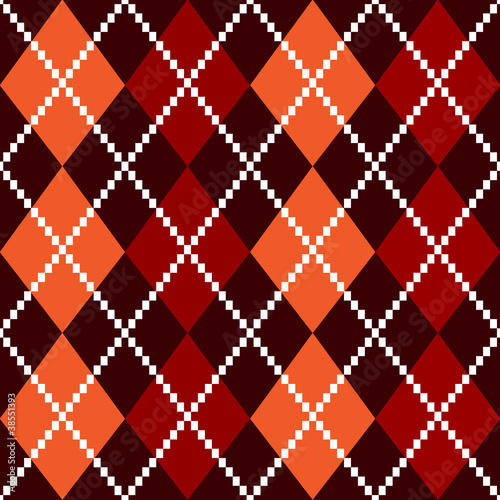 Retro colorful colorful argile pattern - orange and red