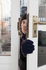 Theif breaking-in burglary security