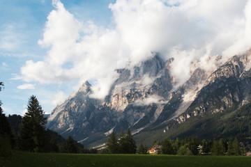 clouds in evening Dolomite