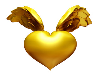 goldenes Flügelherz