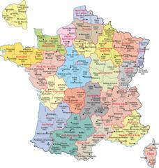 Frankreich, Region, Département