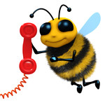 3d Bee answers the phone