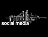 SOCIAL MEDIA Tag Cloud (web internet networking share like chat)