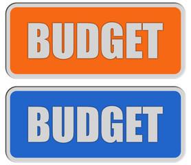 2 Sticker orange blau BUDGET