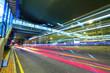 Quadro modern city traffic at night
