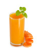 Glass with carrot juice