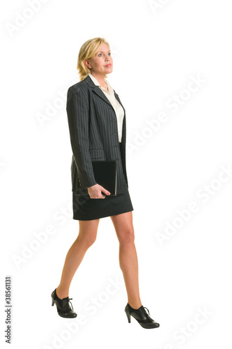 Walking businesswoman