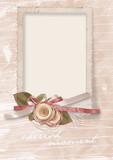 Vintage greetings card  to  beloved with roses poster