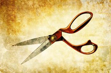 scissor textured print