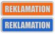 2 Sticker orang blau REKLAMATION