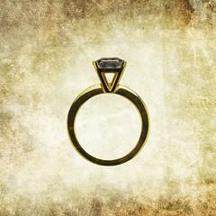 wedding ring print