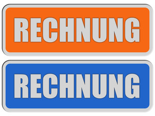 2 Sticker orange blau rel RECHNUNG