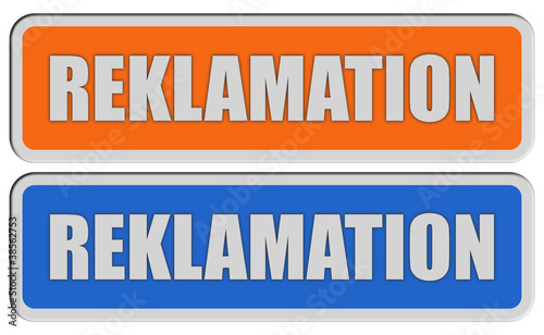 2 Sticker orang blau REKLAMATION