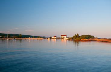 Calm waters on a coastal port