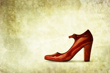 red shoe backdrop