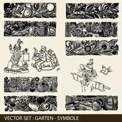 Vector Set: Garten, Gartensymbole