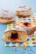 German Krapfen-doughnuts, filled with rose hip jam