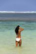 Beautiful woman on Bali beach