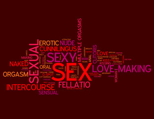 """SEX"" Tag Cloud (erotic red hot sexual love making sexy sensual)"