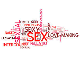 """SEX"" Tag Cloud (love making sexual intercourse sexy sensual)"