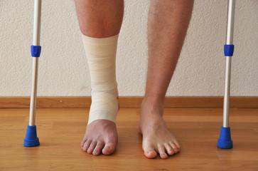 Bandage on the leg