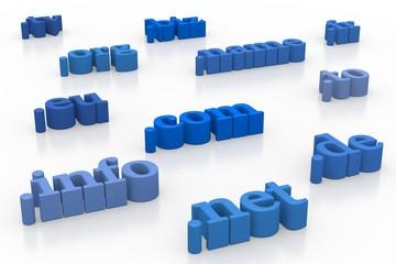 Domains blue