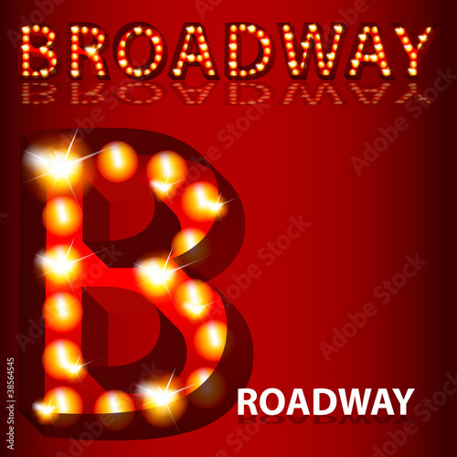 Theatrical Lights Broadway Text