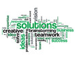 """""""SOLUTIONS"""" Tag Cloud (business ideas smart questions answers)"""