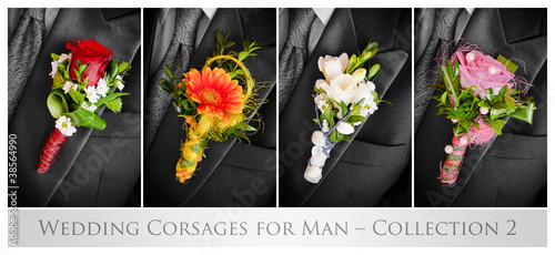Wedding corsaes for man