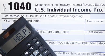 Electronic Tax form with calculator
