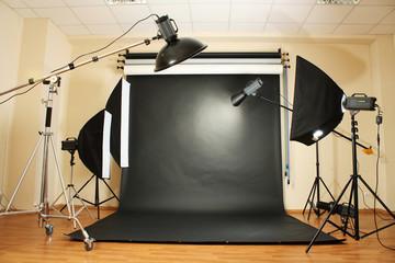 interior of professional photo studio
