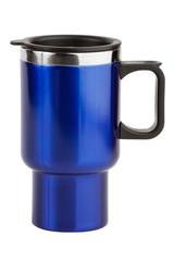 The blue cup - thermos with black handle