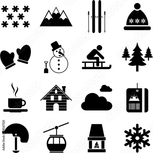 winter/alpine/ski pictograms