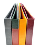 Colorful business cards binders