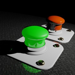 Green and Red Pushbuttons