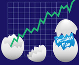 Business startup plan hatch egg growth poster