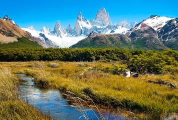 Naturlandschaft mit Fitz Roy in Patagonien, Argentinien