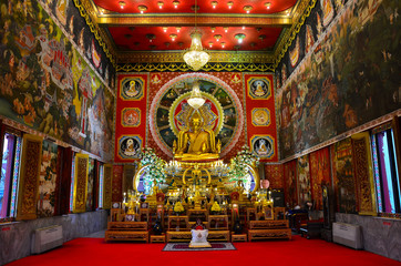 Buddha image in the grand temple