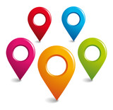 Fototapety Location GPS symbols