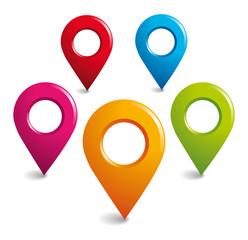 Location GPS symbols