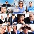 Business people team. Collage.